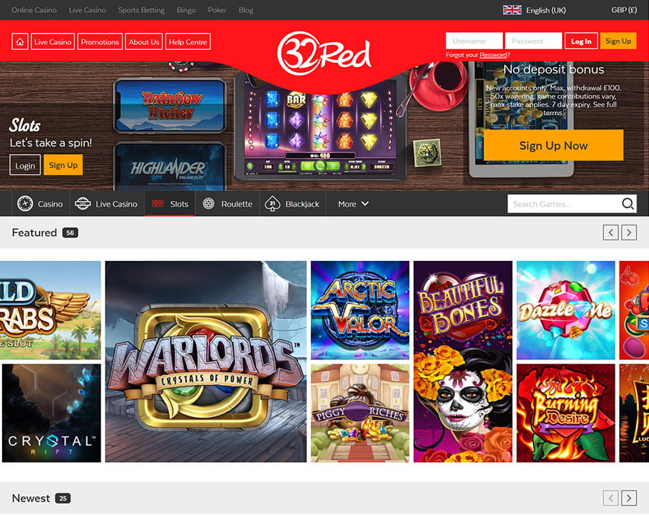 Slots to Play at 32Red Casino