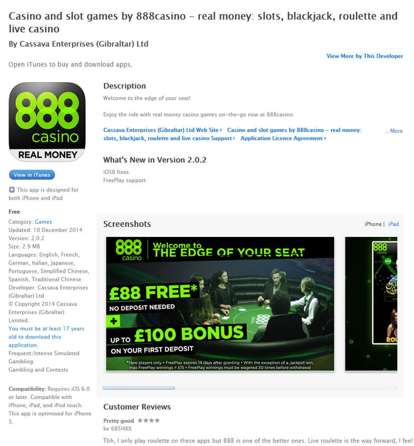 888 casino download mac