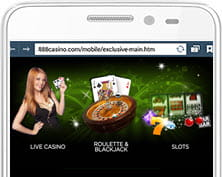 Mobile games at 888 Casino