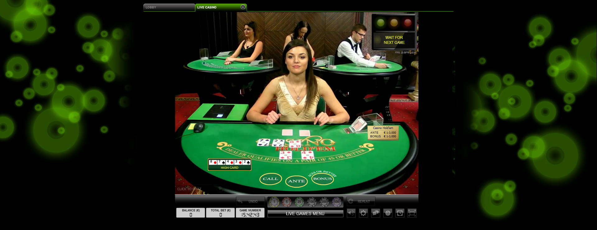 Play Live Casino Hold'em Online at Casino.com India
