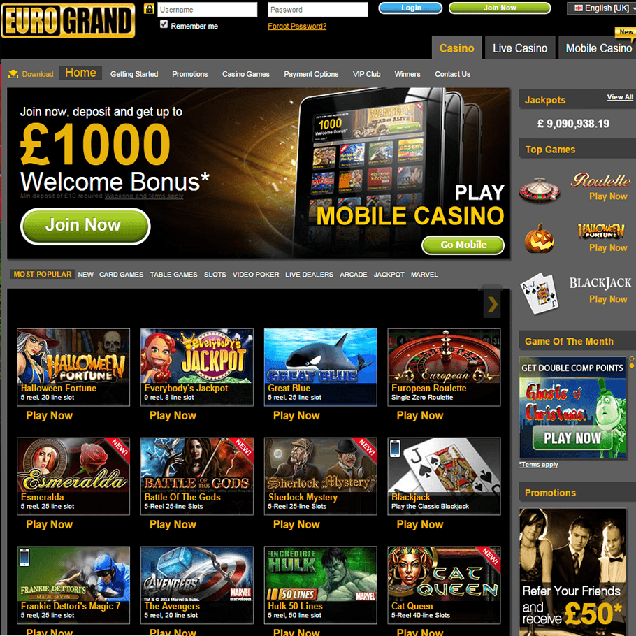 list of uk casinos online