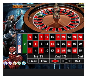 The Marvel Roulette offers a special bonus round
