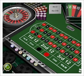 The classic Roulette games at Betfair Casino, European and American