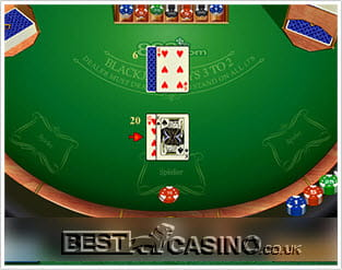 Play 21 Duel Blackjack Multihand at Casino.com UK