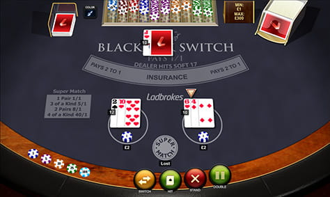 Blackjack Switch | Spinit