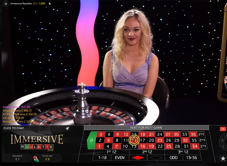 Immersive Roulette by Evolution Gaming
