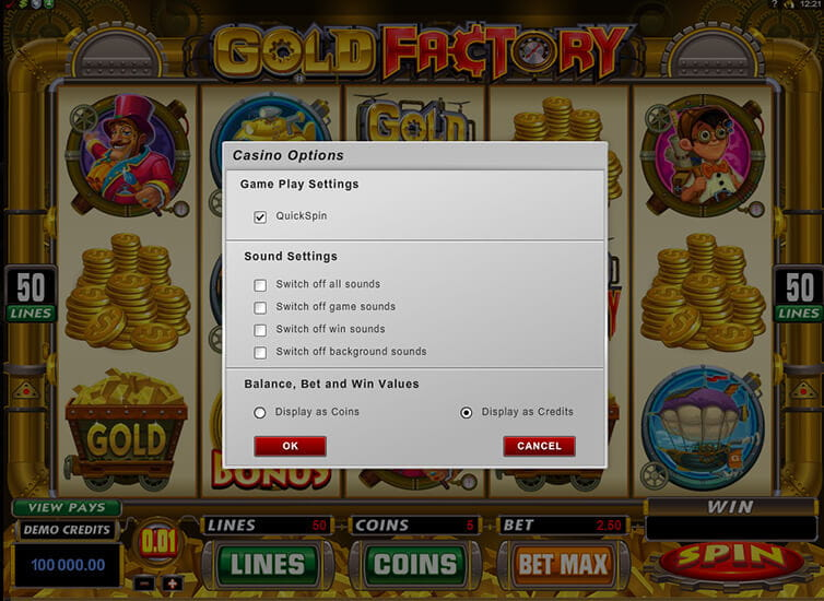 Gold Factory Slot Settings – Powered by Microgaming
