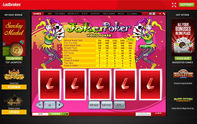 Joker's Wild at Ladbrokes Casino