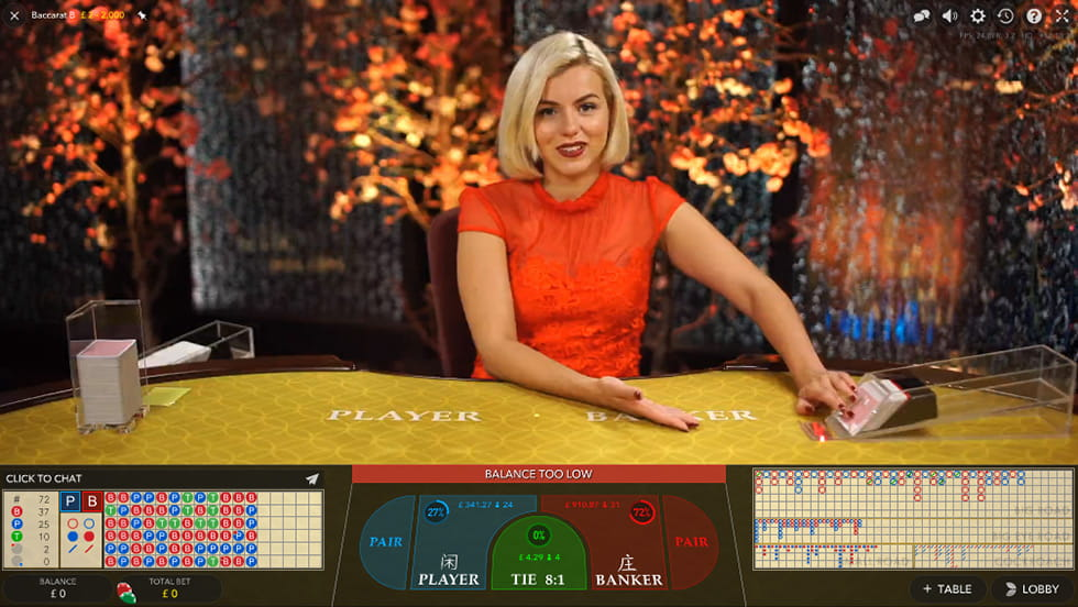 Live Baccarat by Evolution Gaming at 888