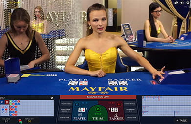 Live Baccarat by Evolution Gaming at William Hill