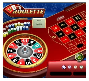 Mini Roulette has only 13 numbers