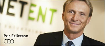 The CEO of NetEnt AB – Per Eriksson