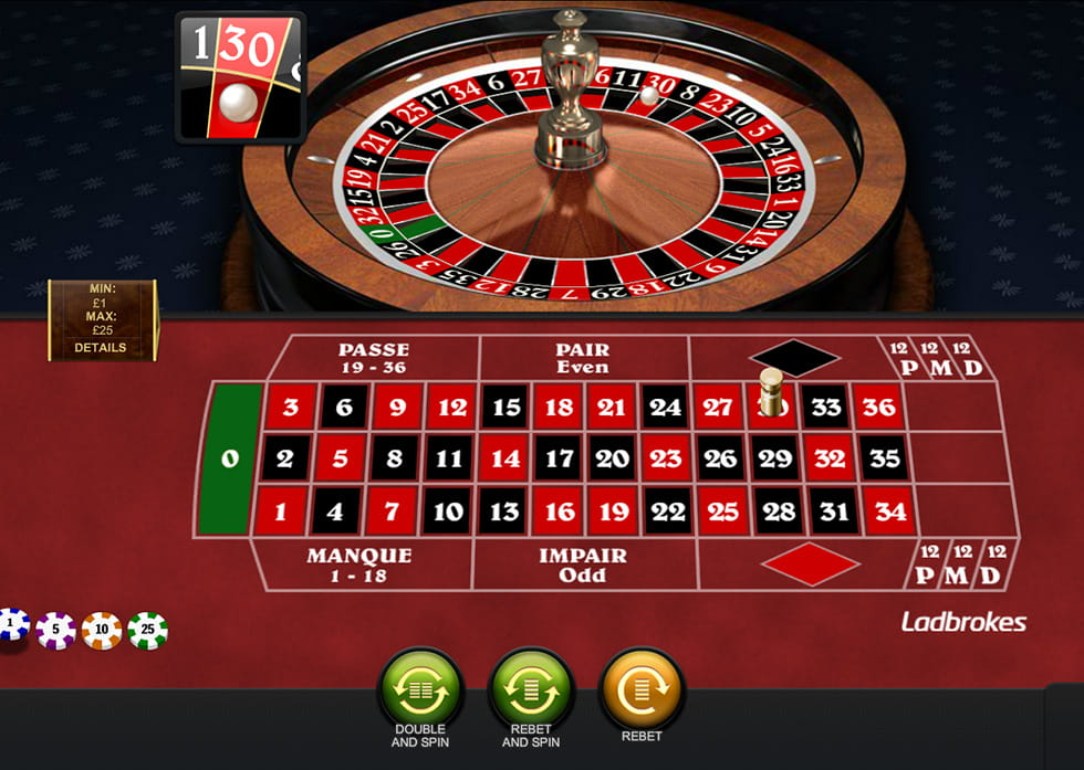 Roulette 20p game